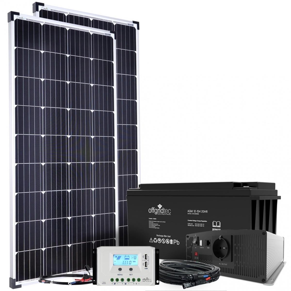 300W Solaranlage Garten 12V komplett