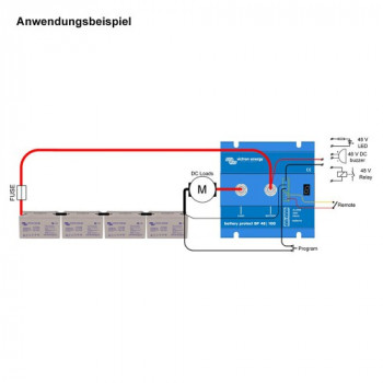 Anwendungsbeispiel Battery Protect Victron Energy