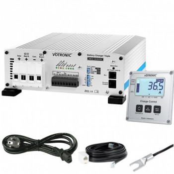 votronic VBCS Triple Ladewander Laderegler Batterielader mit display