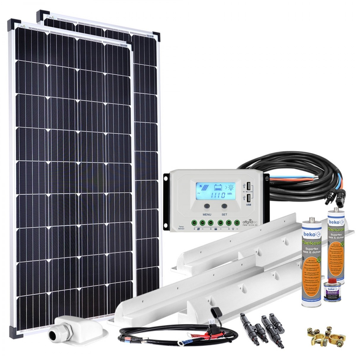 10W Premium-XL Wohnmobil Solaranlage 10V Offgridtec