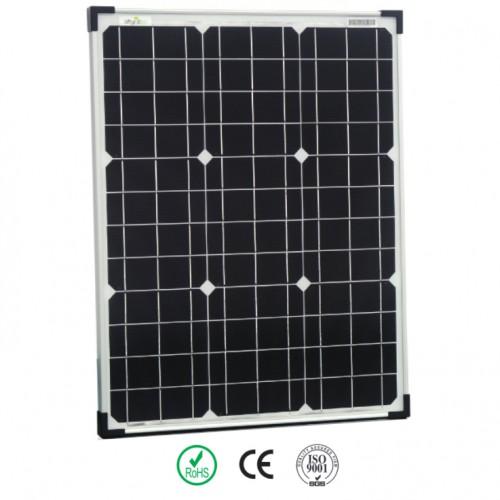 1 Stück 50 Watt 12V Monokristallines Solarmodul Solarpanel Solarzelle für Garten