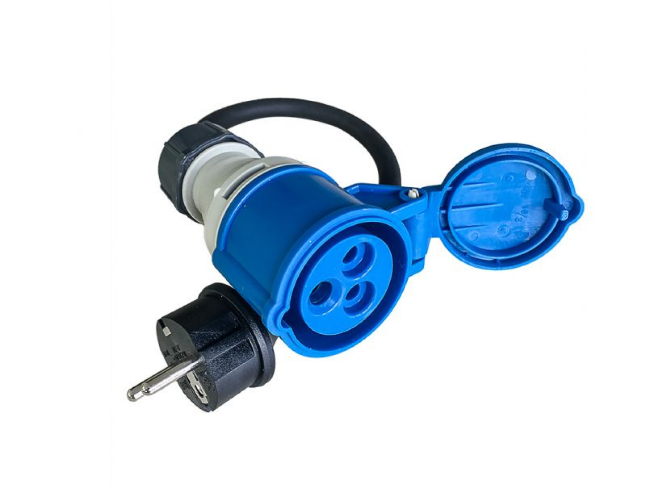 cee camping adapterkabel 3 polig 16a kupplung auf 230v. Black Bedroom Furniture Sets. Home Design Ideas