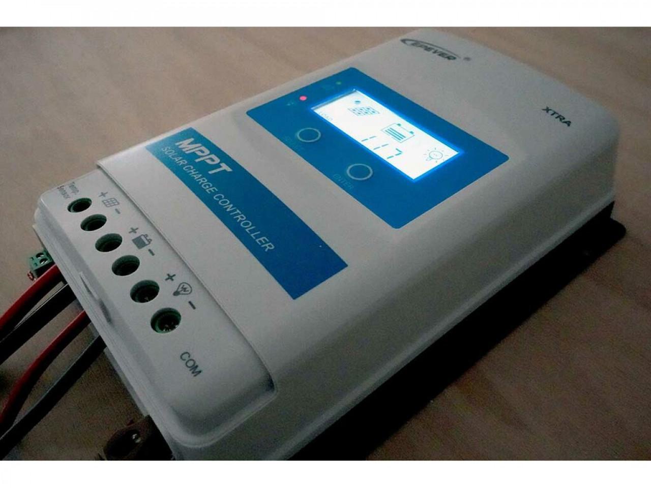 1210AN MPPT10A Solarladeregler Solar Ladeger/ät DC Automatische Identifizierung Systemspannung mit LCD-Bildschirm