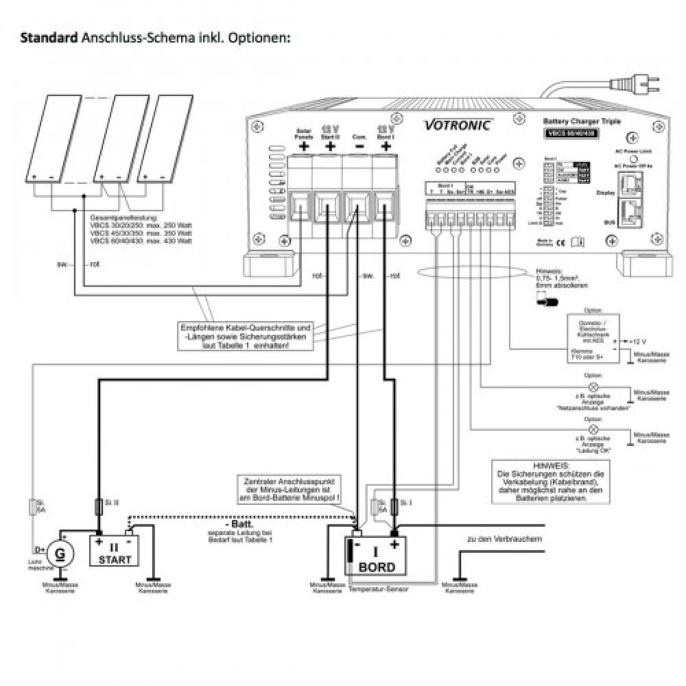 Votronic VBCS 60-40-430 Triple - Solarladeregler Batterieladegerät ...
